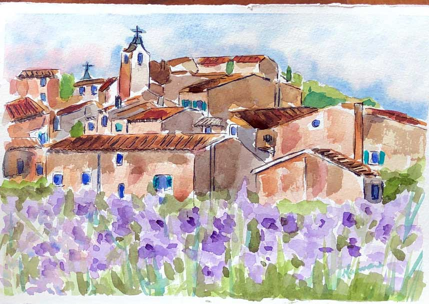 Provence Rooftops - Marina's Watercolors