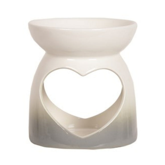 Grey Heart Wax Burner