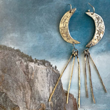 Load image into Gallery viewer, Sterling Moon Earrings