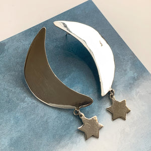 Sterling Moon Earrings