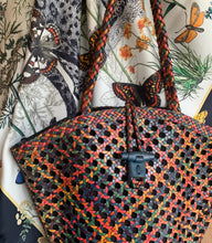 Load image into Gallery viewer, Woven Leather Cane wicker bag