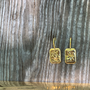 Mountain top Damascene earrings