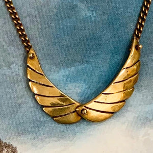 Brass Wings Necklace
