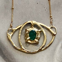 Load image into Gallery viewer, Emerald Eye Necklace