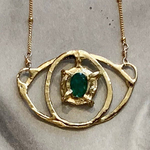 Emerald Eye Necklace