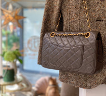 Load image into Gallery viewer, Quilted Black Leather Bag