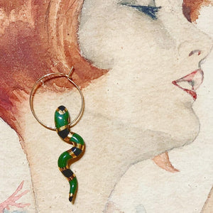 Serpent Hoop Earring