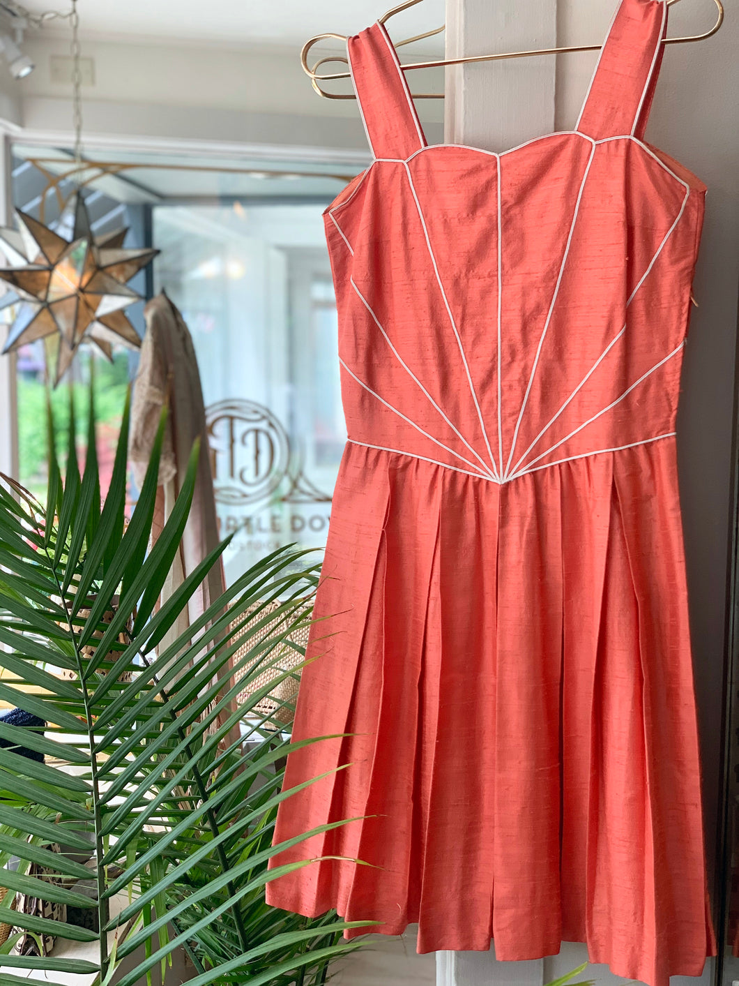 Coral scallop Dress