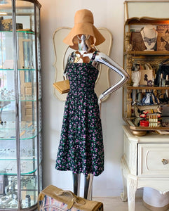 Dark Tiny Floral Sundress