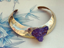 Load image into Gallery viewer, Brass & Amethyst Choker