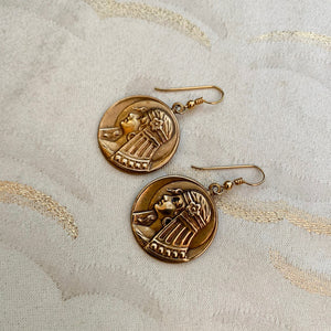 Egyptian Head Earrings