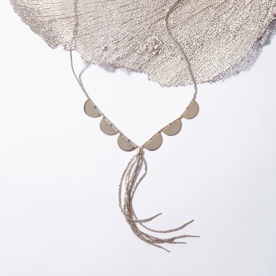 Serpent Half Moon Necklace