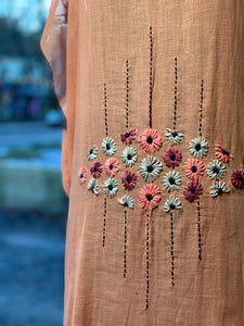 1920's hand embroidered dress