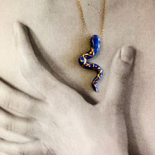 Load image into Gallery viewer, Small Snake Pendant Necklace