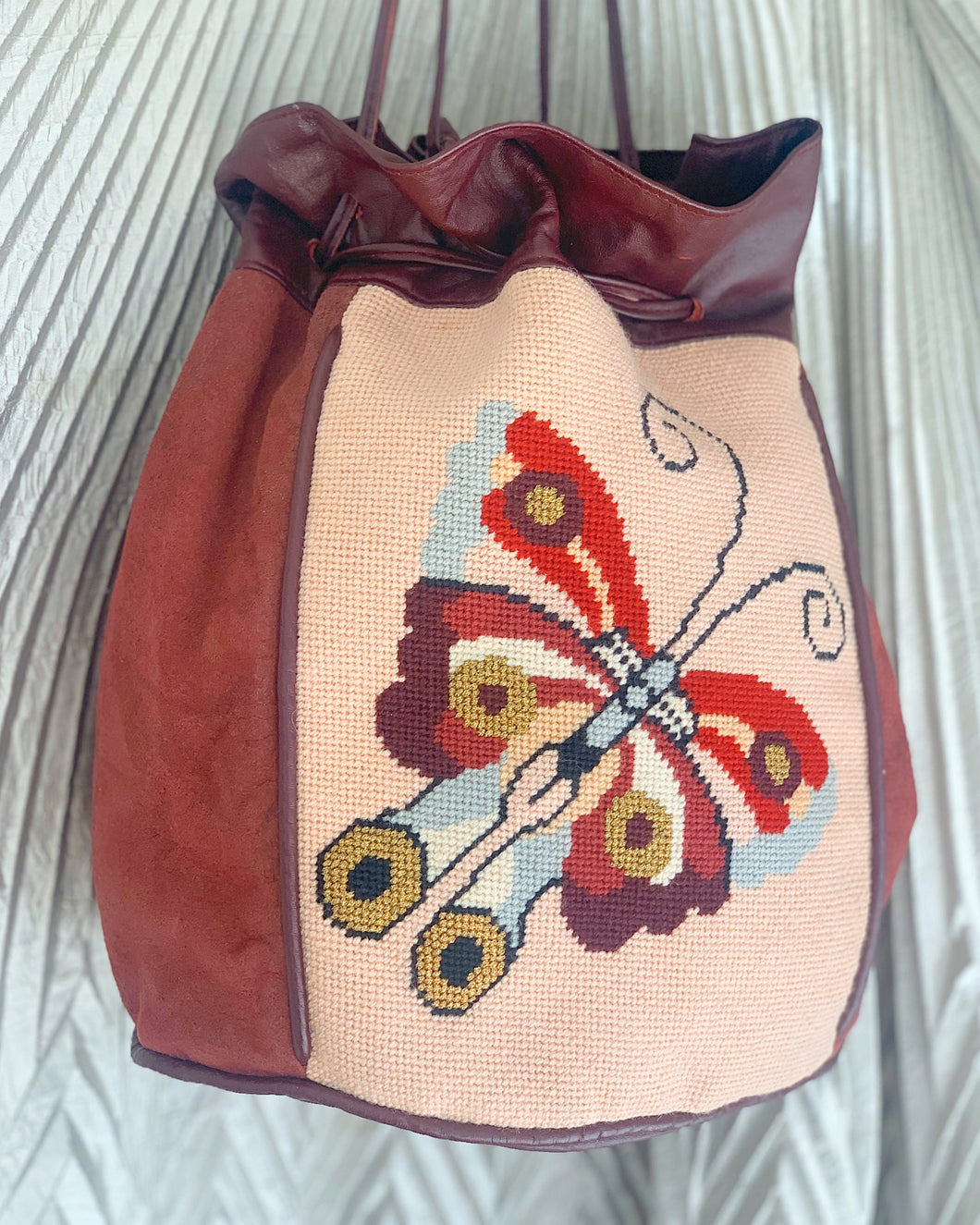 Butterfly bucket bag