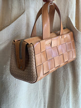 Load image into Gallery viewer, Vintage woven leather handbag