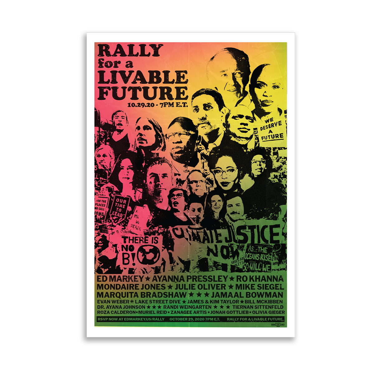 Rally for a Livable Future Poster