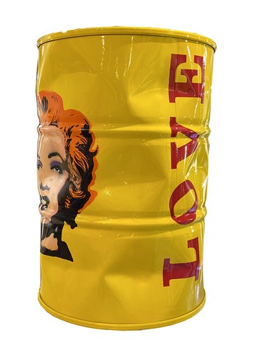 Yellow Love Marilyn Barrel