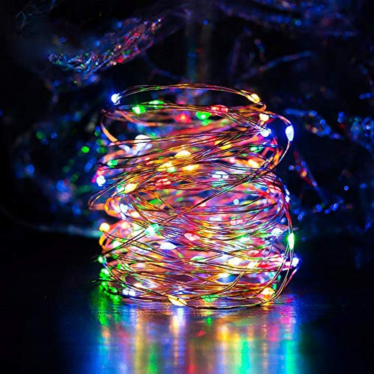 Picture of: Solar String Lights Multi Color Ankway 200 Led Fairy Lights 3 Strand Ankway