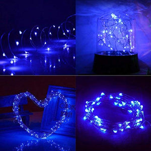 Ankway Solar String Lights Blue 200 LED Fairy Lights 3-Strand Copper Wire Light 8 Modes 72ft Outdoor String Lights Waterproof Twinkle Lights for Christmas Tree Garden Fence Indoor Wedding Party