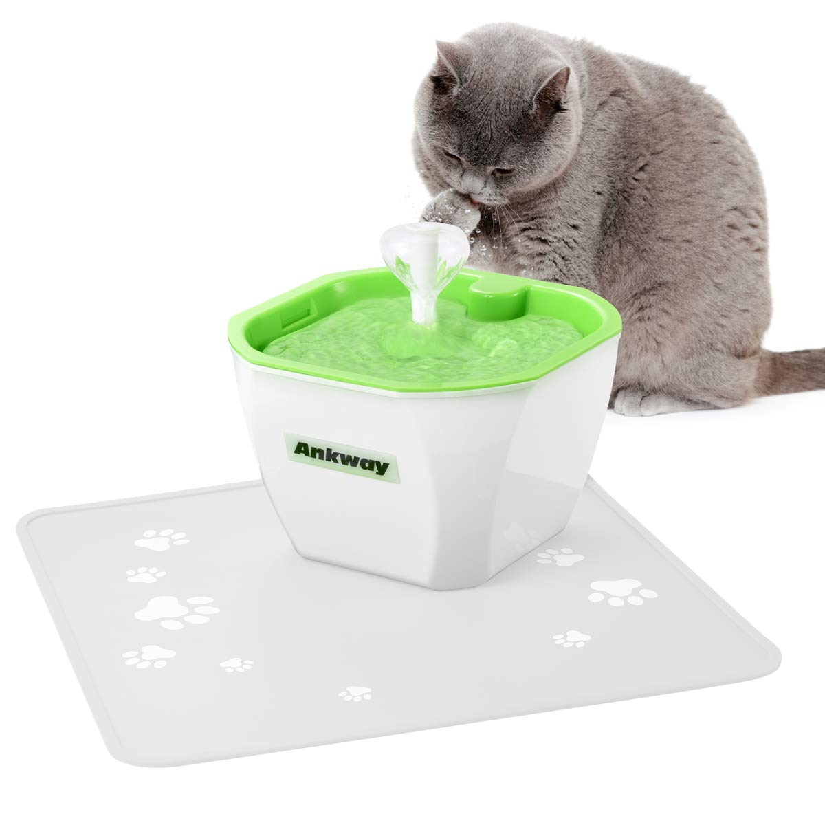 Ankway Pet Water Fountain, Replacement Filter and Silicone Mat