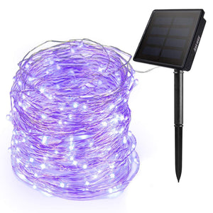 Ankway Solar String Lights 200 LED Fairy Lights 3-Strand Copper Wire Light 8 Modes 72ft Outdoor String Lights Waterproof Twinkle Lights for Christmas Tree Garden Fence Indoor Wedding Party
