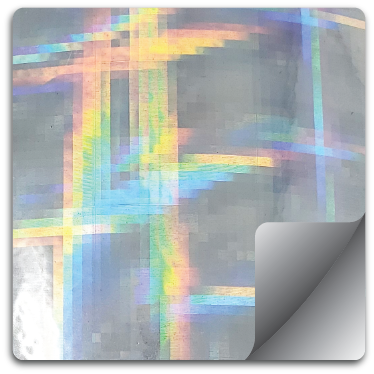 Plaid Holographic Vinyl Square Stickers