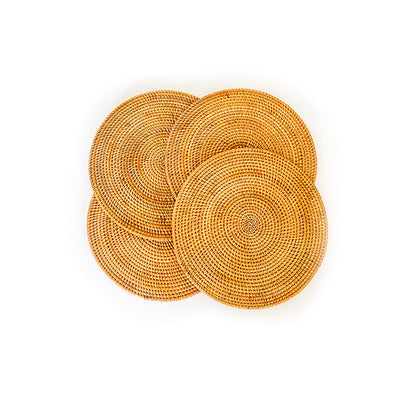 Rattan Placemats - Set of Four (4) - My Trove Box