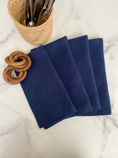 Belgian Linen Napkins - Set of 4 - My Trove Box