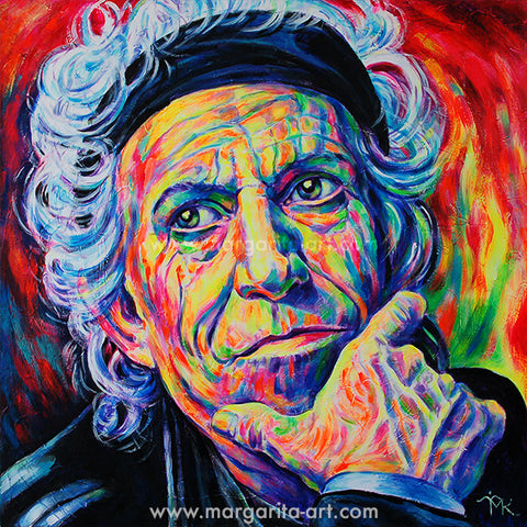 Margarita Kriebitzsch - Keith Richards - Rock Legend