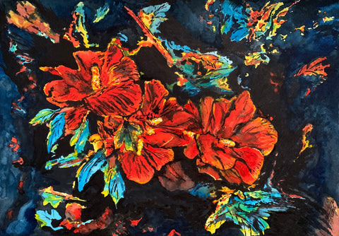 Michael Heins - Flowers in Red
