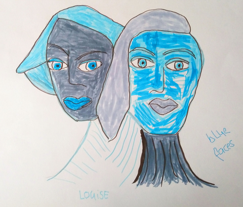 Louise Lunghard - Blue faces