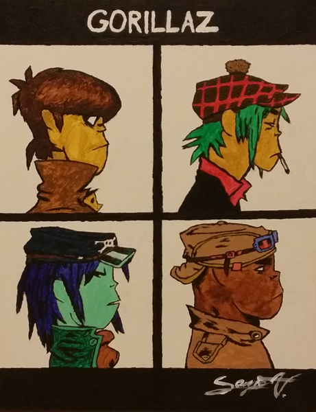 Sanja - The Gorillaz - Demon Days