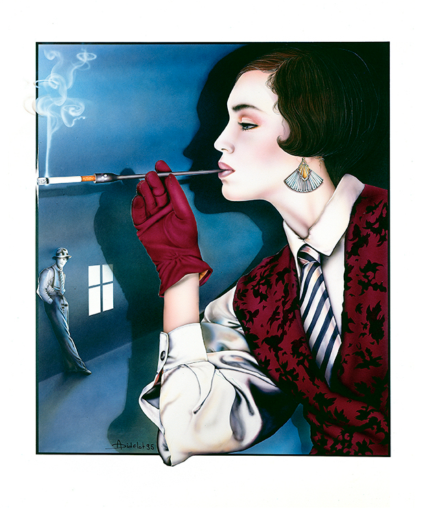 Anne Didelot - With the tip of the cigarette
