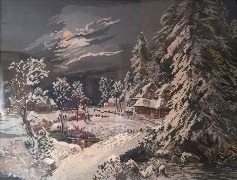 Denis Lemberger - Dorf in Winternacht