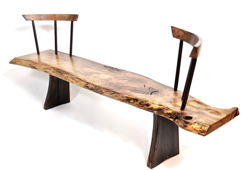 Jörg Pietschmann - Bench · Walnut, Bog Oak, Smoked Oak · B1054