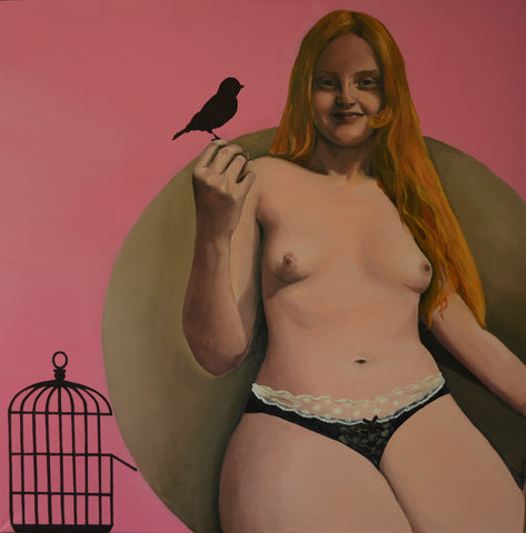 Marek Slawinski - Girl and Birdcage