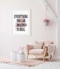 Everything you can imagine is real Poster Kunstdruck - Typografie, KUNST-ONLINE Wandbild