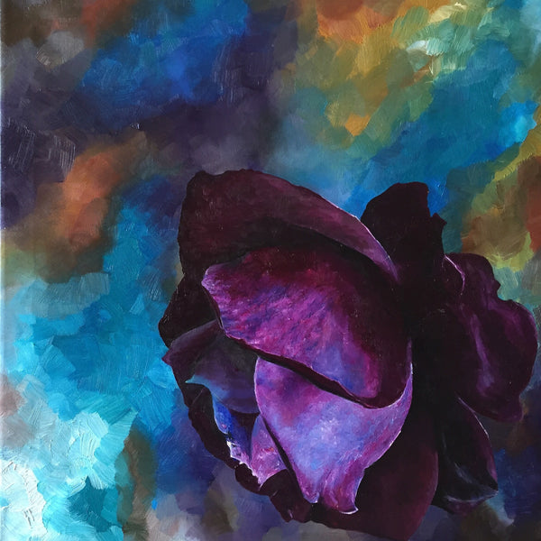 Leila Holberg - Purple rose