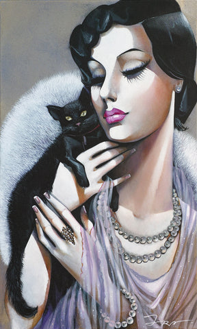 Ira Tsantekidou - Lady with Black Cat
