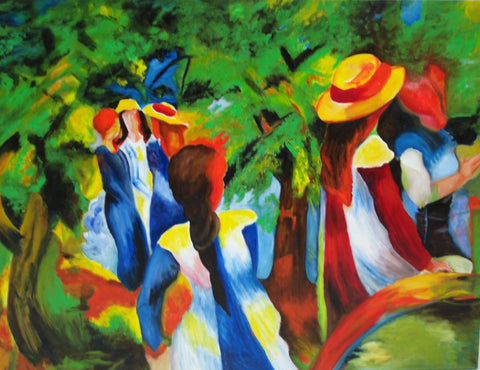 Annegret Warth - Hommage an August Macke