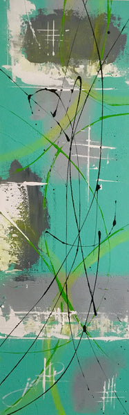 J.D. Art - Pastell - green - grey