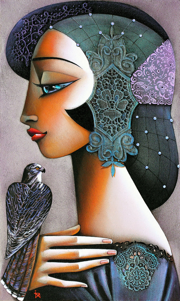 Ira Tsantekidou - Princess with Falcon