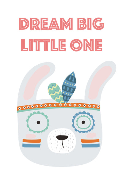Dream big, little one Poster Kunstdruck - Kunst für Kinder, KUNST-ONLINE Wandbild