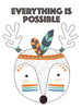 Everything is possible Poster Kunstdruck - Kunst für Kinder, KUNST-ONLINE Wandbild