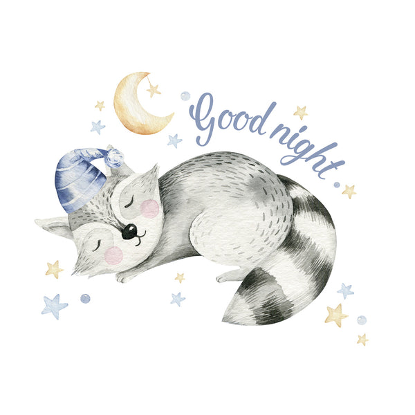 Good night Poster Kunstdruck - Kunst für Kinder, KUNST-ONLINE Wandbild