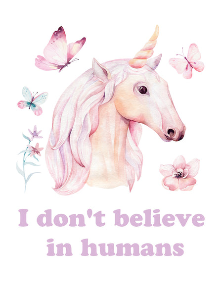 I don't believe in humans Poster Kunstdruck - Kunst für Kinder, KUNST-ONLINE Wandbild