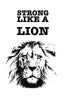 Strong like a lion Poster Kunstdruck - Typografie Illustration, KUNST-ONLINE Wandbild