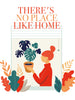 There's no place like home Poster Kunstdruck - Illustration Typografie, KUNST-ONLINE Wandbild