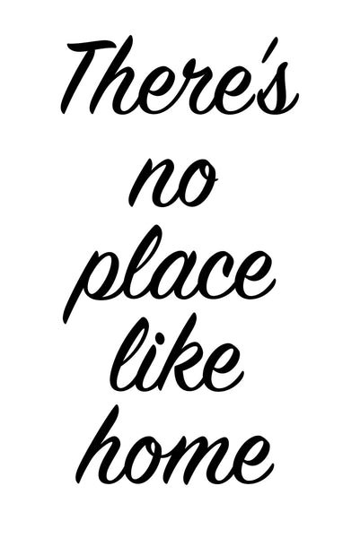 There's no place like home Poster Kunstdruck - Typografie, KUNST-ONLINE Wandbild